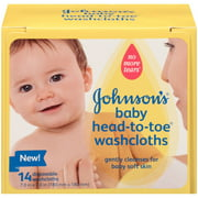 Johnson's Head-To-Toe Washcloths, 14 Count