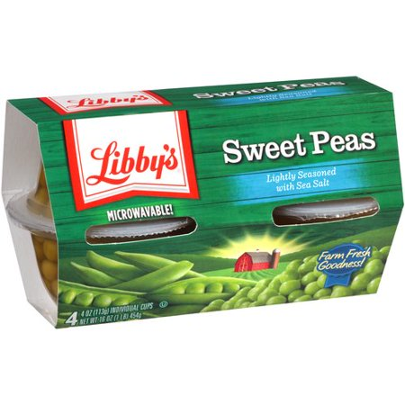 Super Sticky Sweet Pea - (6 Pack) Libby's Sweet Peas, 4 Oz, 4 Count Box