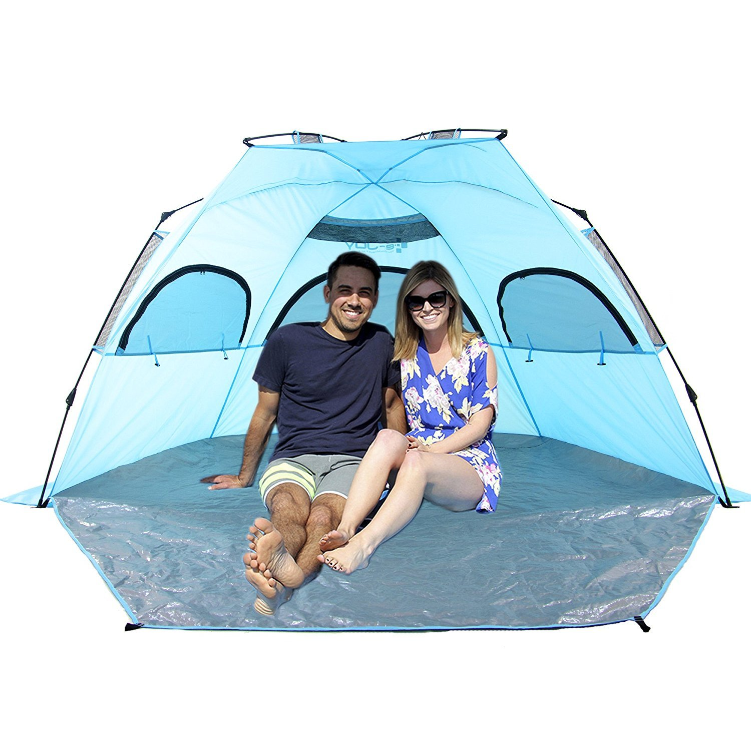 e-joy Outdoor Deluxe Beach Tent,Automatic Pop Up Instant Portable Outdoors Beach Tent, UV Protection Sun Shelter,Easy Set up