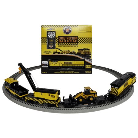 Lionel Construction Railroad Electric O Gauge Model Train Set with Remote and Bluetooth Capability
