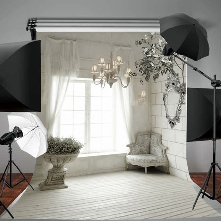 3x5FT & 5x7FT Photography Background Backdrops Screen Studio Photo Props Black And White Photography