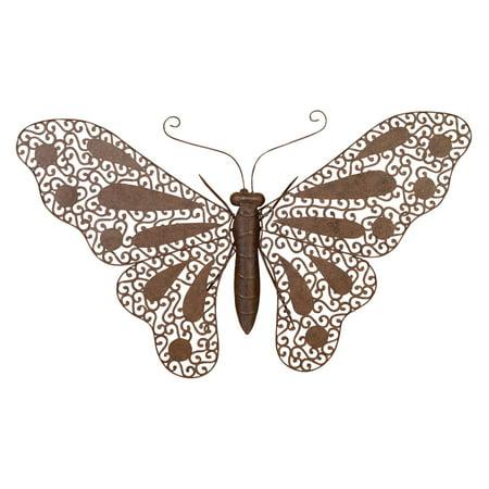 DecMode Metal Butterfly Wall Sculpture - Copper ()