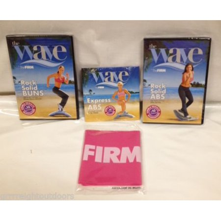 The Wave 3 DVD's and Pink Resistance Band Express Abs Rock Solid Buns And
