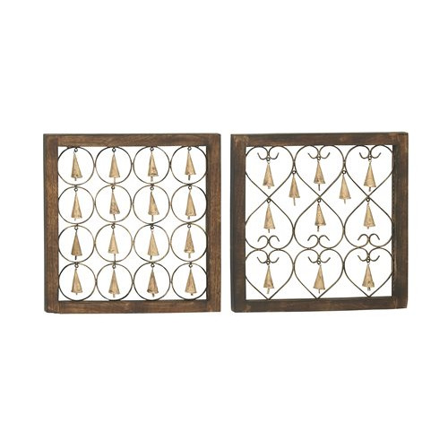 Woodland Imports 2 Piece Bell Wall Decor Set by Woodland Imports