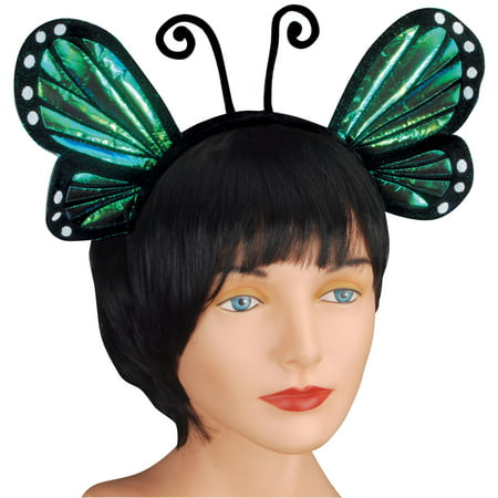 Halloween Headbands (Loftus Halloween Cosplay Butterfly Antenna Costume Headband, Blue, One)