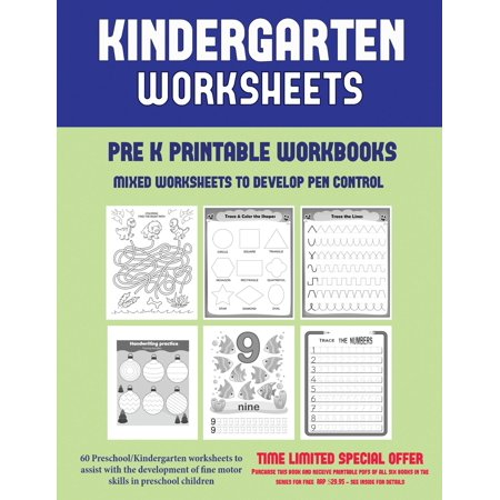 Halloween Worksheets Printables For Adults (Pre K Printable Workbooks (Mixed Worksheets to Develop Pen Control) : 60 Preschool/Kindergarten Worksheets to Assist with the Development of Fine Motor Skills in Preschool)