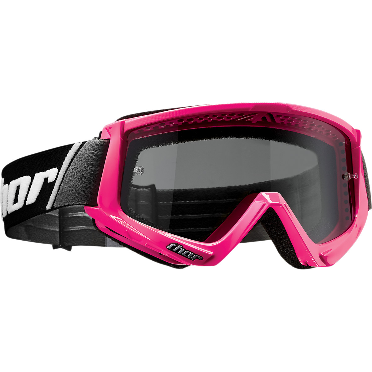 Thor Combat Goggles Sand (Solid Black, One Size Fits Most)