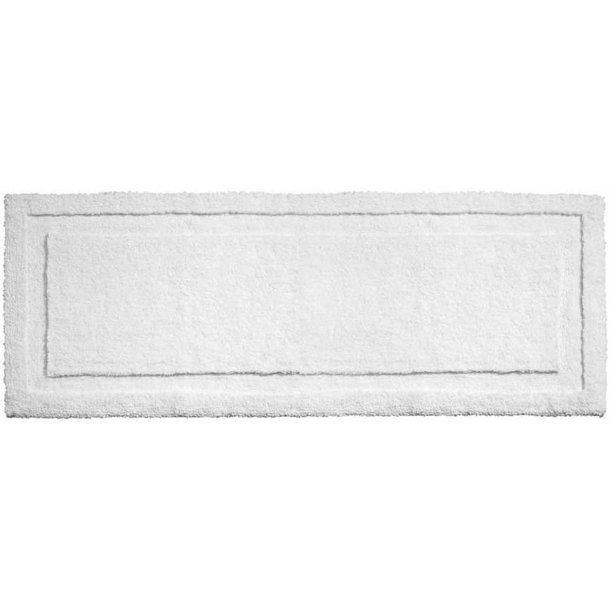 Interdesign Microfiber Spa Non Slip Long Bathroom Rug 60 X 21 White Walmart Com Walmart Com