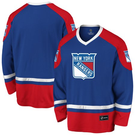 Men's Fanatics Branded Royal/Red New York Rangers Rival Blue Line Long Sleeve Jersey Rangers Third Jersey