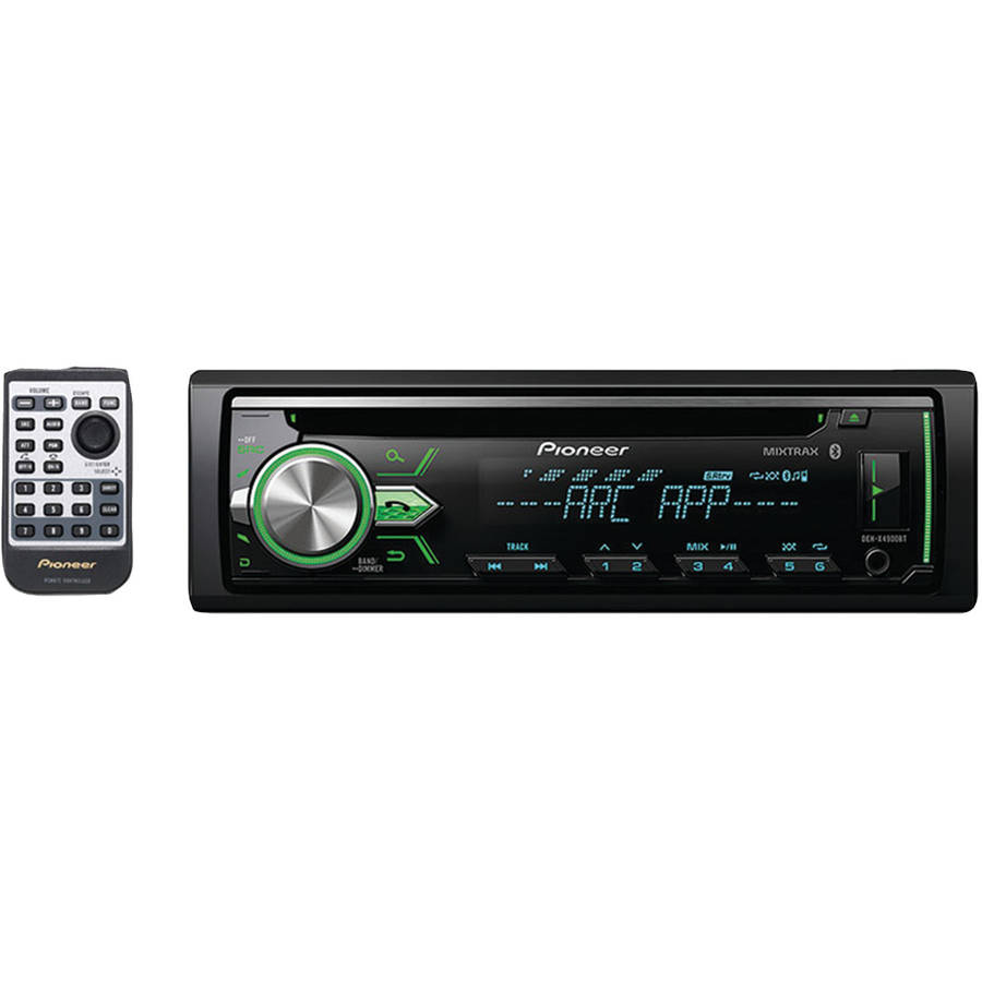 Pioneer Deh-X4900BT Single-DIN In-Dash CD Receiver with MIXTRAX, Bluetooth and Multicolor Dual-Zone Display Control by Pioneer