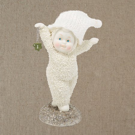 Snowbabies Merry Mistletoe Baby Holding a Mistletoe Porcelain Christmas Figurine