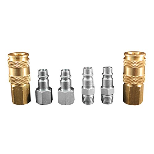 "Milton S-217 1/4"" NPT V Style Coupler and Plug Kit"