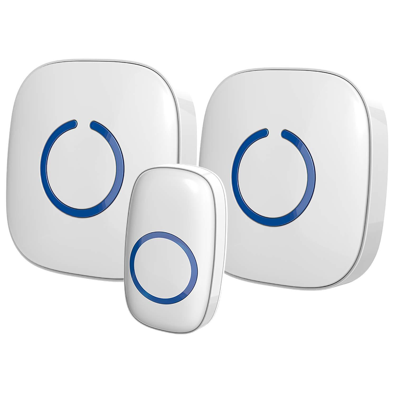 SadoTech Model CXR Wireless Doorbell, White
