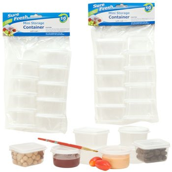 Sure Fresh Mini Storage Containers 10 ct Packs Square By