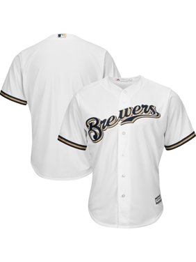 Milwaukee Brewers Majestic Official Cool Base Jersey - White