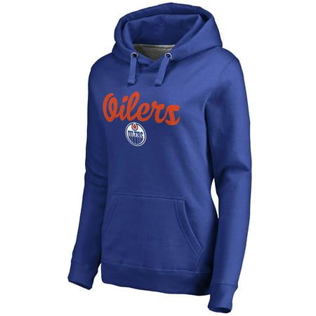Edmonton Oilers Women's Free Hand Pullover Hoodie - Royal