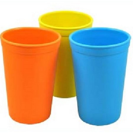 Re-Play 3 Pack Drinking Cups - Yellow/Orange/Blue