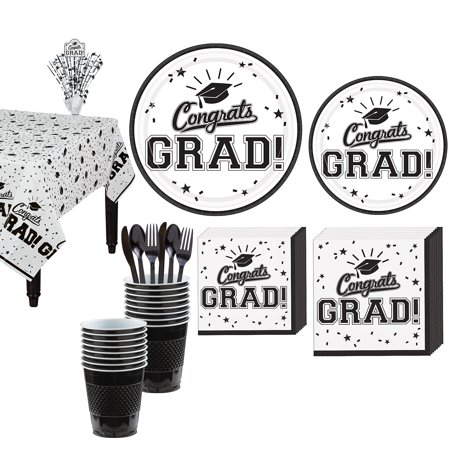 Party City Congrats Grad Graduation Tableware Kit for 18 Guests, Includes Plates, Napkins, and a - Party City Appleton