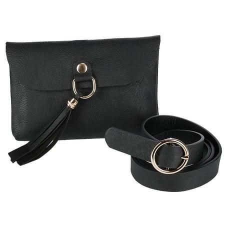 CTM Flap Front Tassel Waist Pack Belt Bag - image 1 of 4