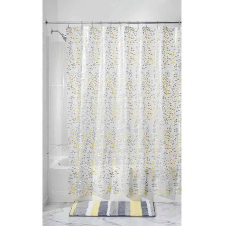 InterDesign Vine PEVA Shower Curtain Standard 72 X Gray Yellow