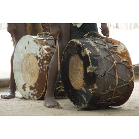 LAMINATED POSTER Ethnic Music South Africa Percussion Zulu Drum Poster Print 11 x