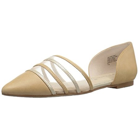 BC Footwear Women's Wait a Minute Pointed Toe Flat, Vacchetta, 8 M US