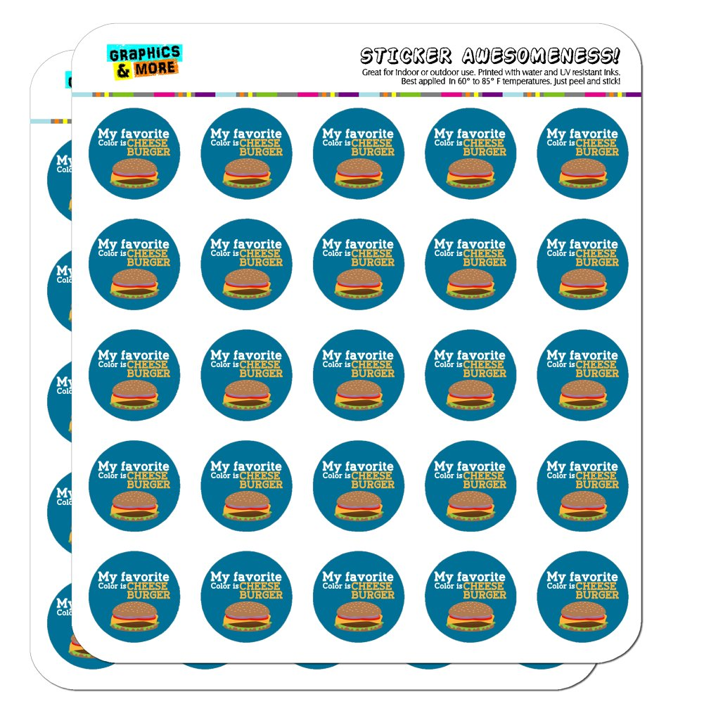 """My Favorite Color is Cheeseburger 1"""" Planner Calendar Scrapbooking Crafting Opaque Stickers"""