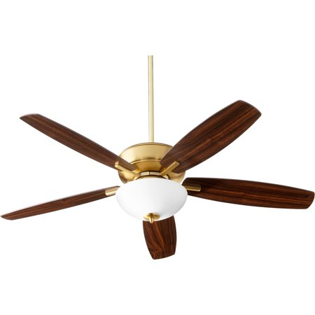 P/t Indoor Light - Indoor Ceiling Fans 2 Light With Aged Brass Finish Medium Base Bulb 52 inch 26 Watts