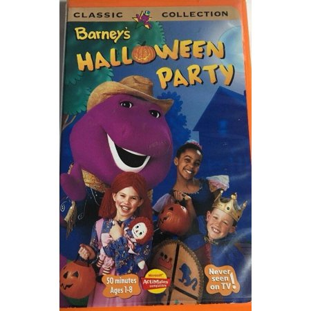 Barney - Barneys Halloween Party (VHS, 1998) Clam Shell - Halloween 2017 Vhs