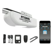 Skylink Atoms ATR-1612CKW Smartphone-Controlled Anti-Breaking Chain Drive Garage Door Opener with Built-In Bright LED Light, with Remote Control and Wireless Keypad