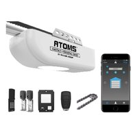 Skylink Atoms ATR-1612CKW Smartphone-Controlled Anti-Breakin Chain Drive Garage Door Opener with Built-In Bright LED Light, with Remote Control and Wireless Keypad