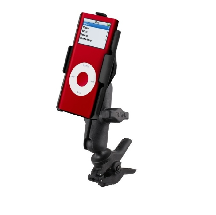 RAM Small Tough-Clamp Motorcycle Mount fits Apple iPod na...