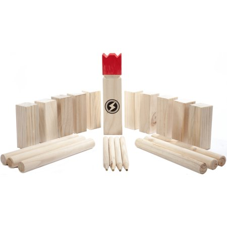 Striker Games Kubb Lawn Game - Outdoor Games - Party Games - Strategic Fun - Beach Games - Outdoor Toys - Games For Families - Backyard Games for Adults and Family - Camping Games - Wooden (Family Party 30 Great Games Outdoor Fun)