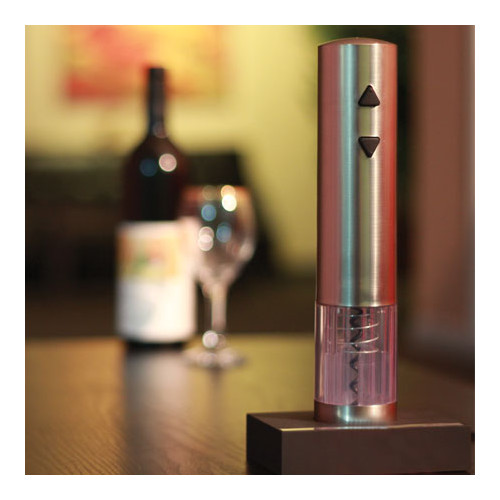 Homeimage Stainless Steel Rechargeable Electric Wine Bottle Opener