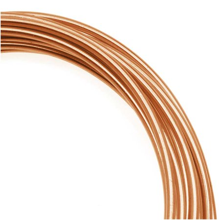 Artistic Wire  Copper Craft Wire 10 Gauge Thick  5 Foot Spool  Bare Copper