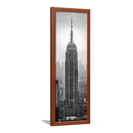 Empire State Building in a City, Manhattan, New York City, New York State, USA Architecture Black and White Photography Framed Print Wall Art By Panoramic Images New York Usa Framed