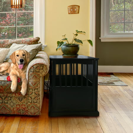 Pet Crate End Table Black