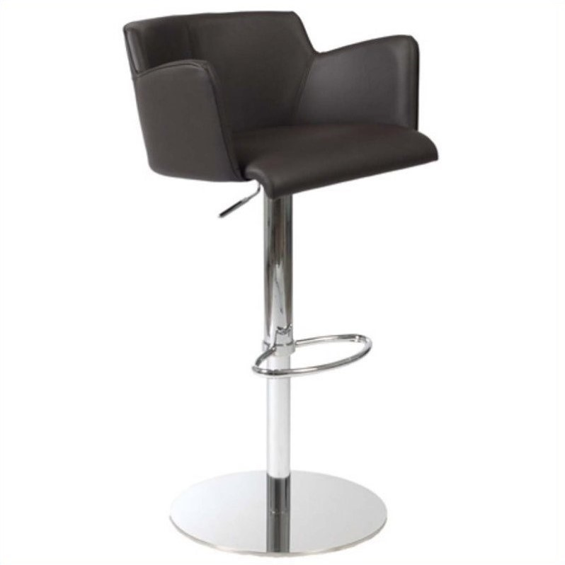 Adjustable Bar Stool in Brown and Chrome - image 4 de 4