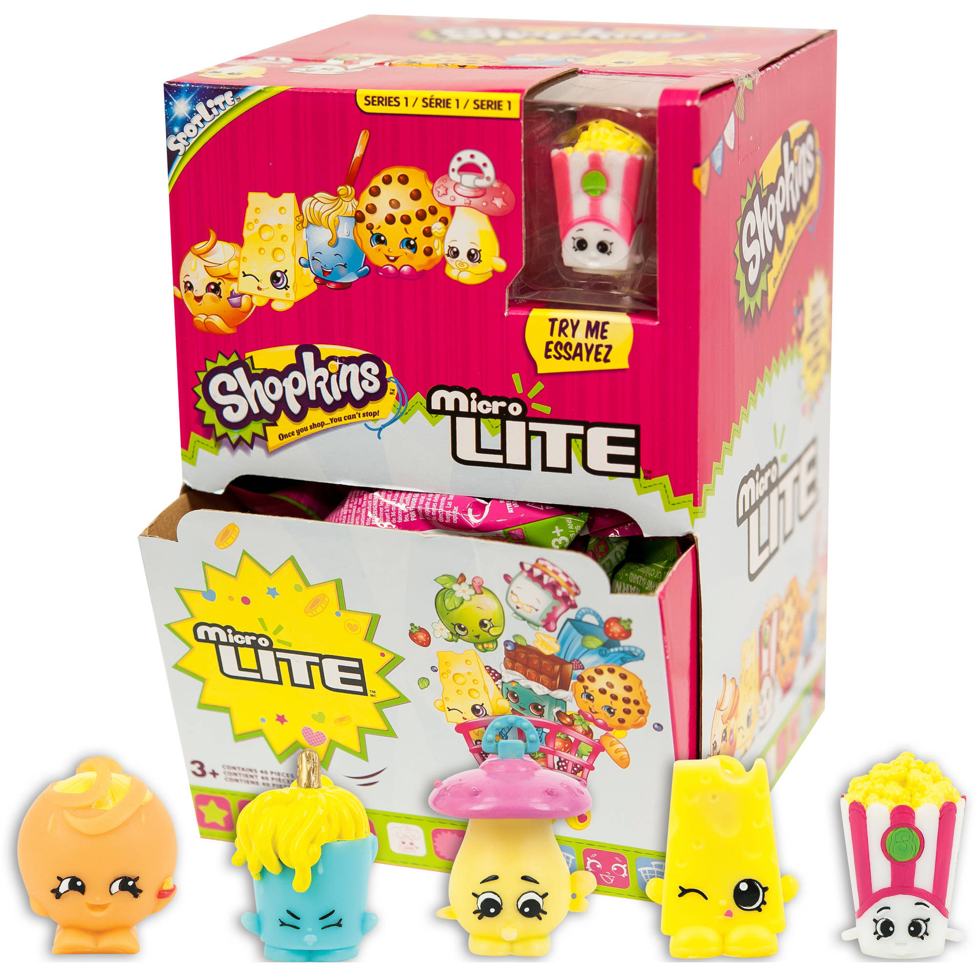 Shopkins Micro Lites Mystery Blind Pack Box, Pack Of 40