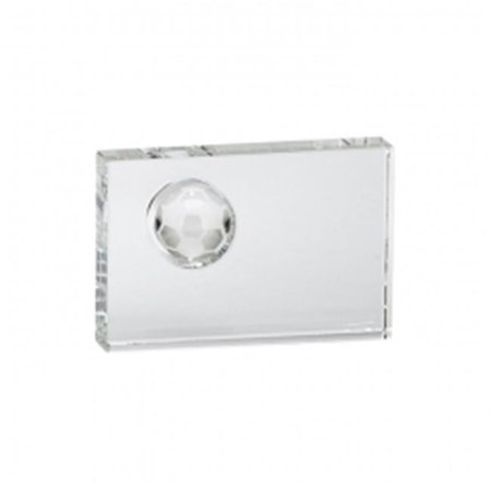 Creative Gifts International 004780 6 x 4 x 1.25 in. Optic Rectangle Soccer Trophy, Small](Small Trophy)