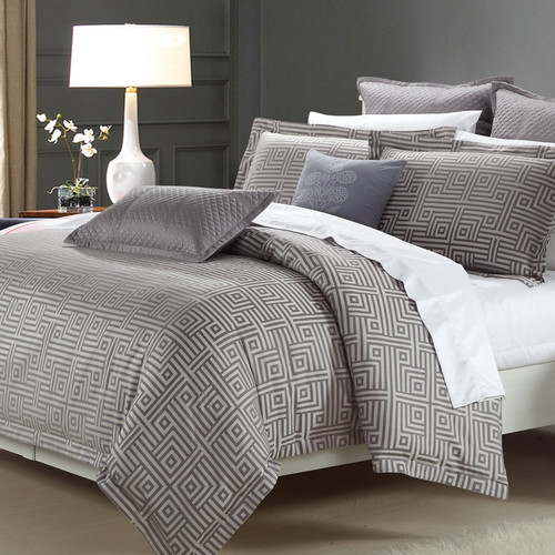 North Home Athens 3 Piece Reversible Duvet Cover Set