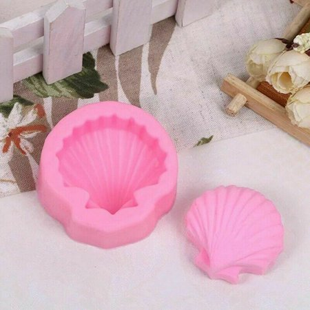KABOER Sea Shell Scallop Silicone Fondant Cake Topper Mold Chocolate Mould Usable (Shell Silicone Mold)
