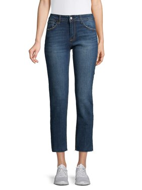 Slim Straight-Fit Cropped Jeans