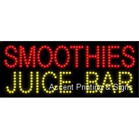 - Smoothies Juice Bar LED Sign (High Impact, Energy Efficient)