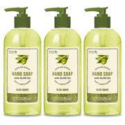 Personal Care Olive Grove Hand Soap. Perfect for Soft and Gentle Hands. With Olive Leaf Extract. 12 fl.oz / 355 ml. Pack of 3