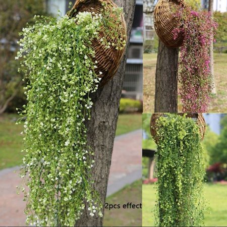 Artificial Hanging Ivy Garland Plants Vine Fake Foliage Flower wisteria Home - Diy Fabric Garland