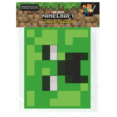 Minecraft Party Masks, 8ct](Minecraft Cake Supplies)