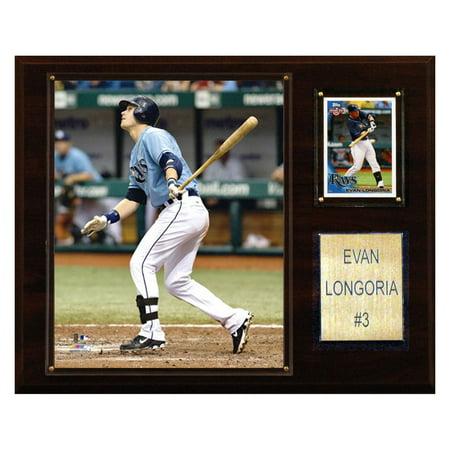 C Collectables MLB 12x15 Evan Longoria Tampa Bay Rays Player Plaque