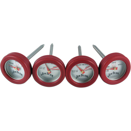 Jim Beam Poultry and Steak Mini Thermometers, 4pk