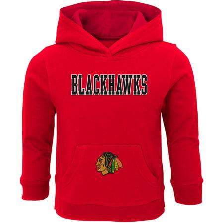 Toddler Red Chicago Blackhawks Team Logo Pullover Hoodie
